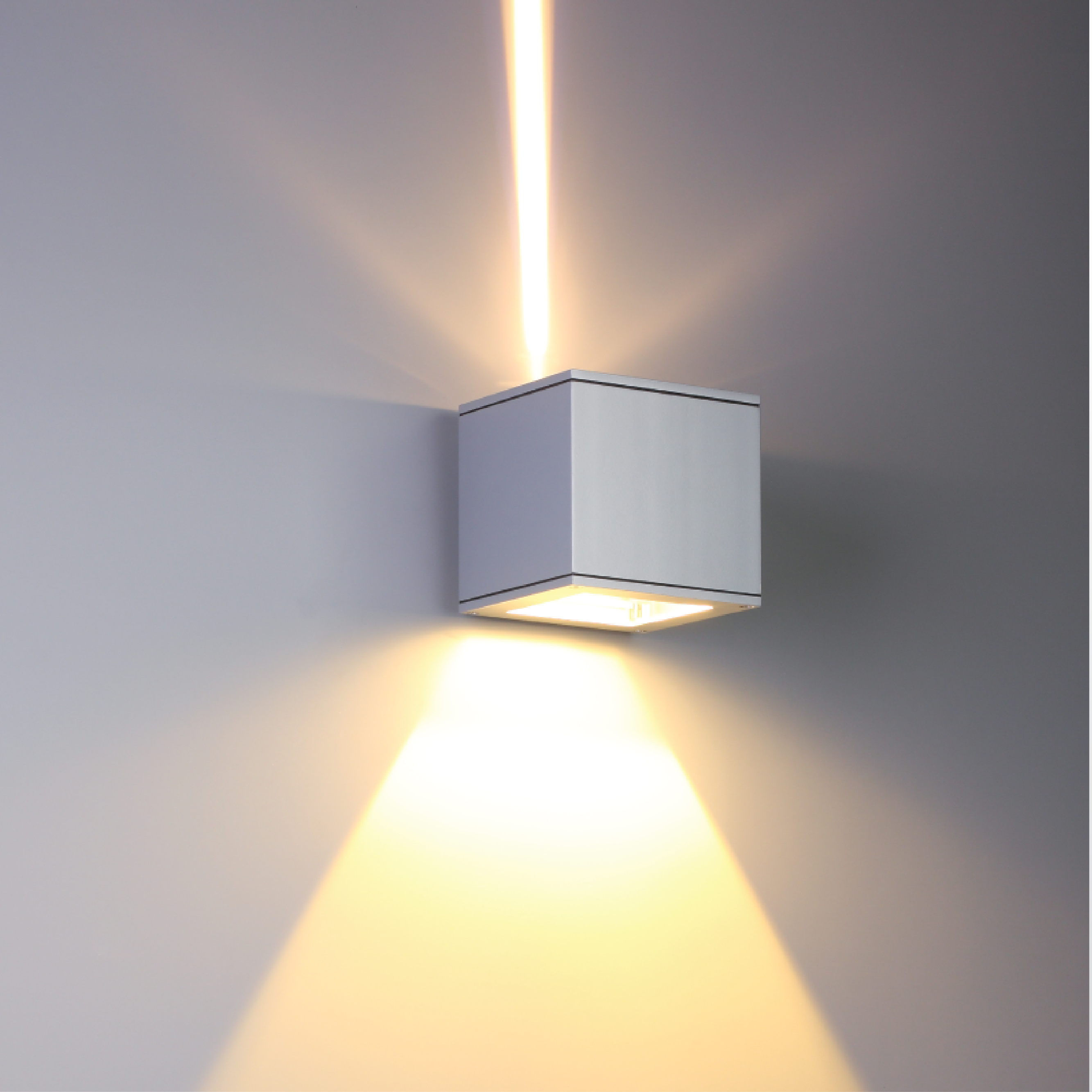 Surface luminaires matrix wall light www for Exterior up and down lights led