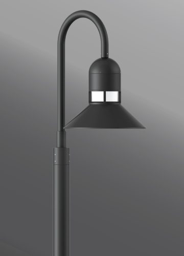 Click to view Ligman Lighting's  Columbus Shepherds Crook Post Top (model UCO-20XXX).