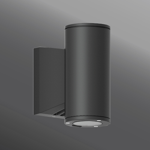 Ligman Lighting's Jet cylindrical and square wall up-down light LED (model UJE-3XXXX).