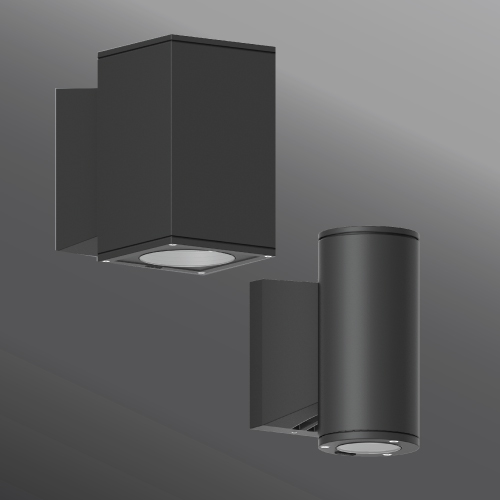 Click to view Ligman Lighting's Jet cylindrical and square wall down light LED (model UJE-30XXX).