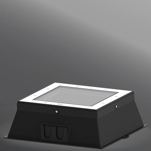 """Ligman Lighting's Kios 11, 12 TYPE II, III & IV Inground Uplight 14.02"""" (model UKI-606XX)."""