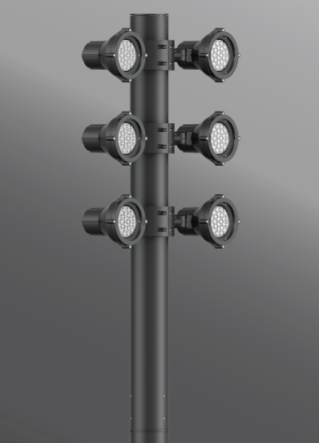 Click to view Ligman Lighting's Mic 3 Cluster Light Column (model UMI-210XX).
