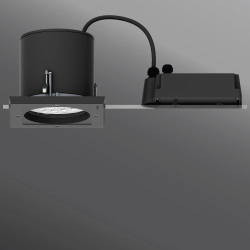 Ceiling Luminaires Robust 3 Square Frame Recessed Downlight