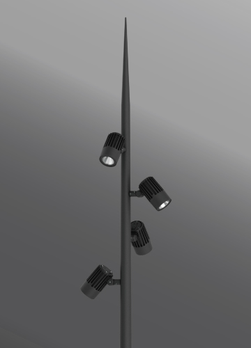 Click to view Ligman Lighting's  Odessa Cluster Spike Pole (model UOD-2103X).