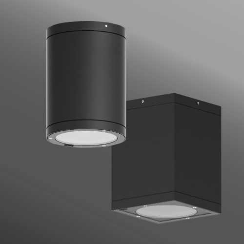 Tango cylindrical and square surface exterior downlight dia. 6.3u201d  7.32u201d HP LED & Dark Sky Luminaires - For IDA Compliancy color temps under 3000K ...