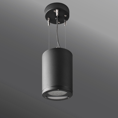 Click to view Ligman Lighting's Tango cylindrical and square pendant downlight HP LED (model UTA-953XX, UTA-952XX, UTA-951XX).