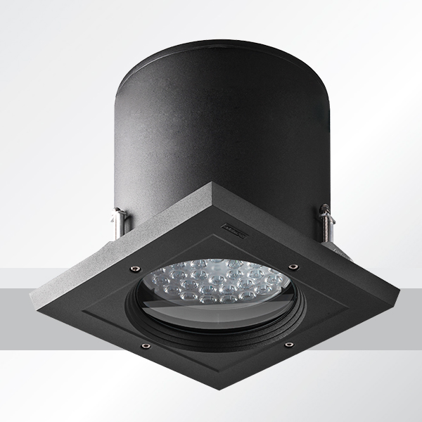 ceiling luminaires robust 3 recessed exterior downlight square