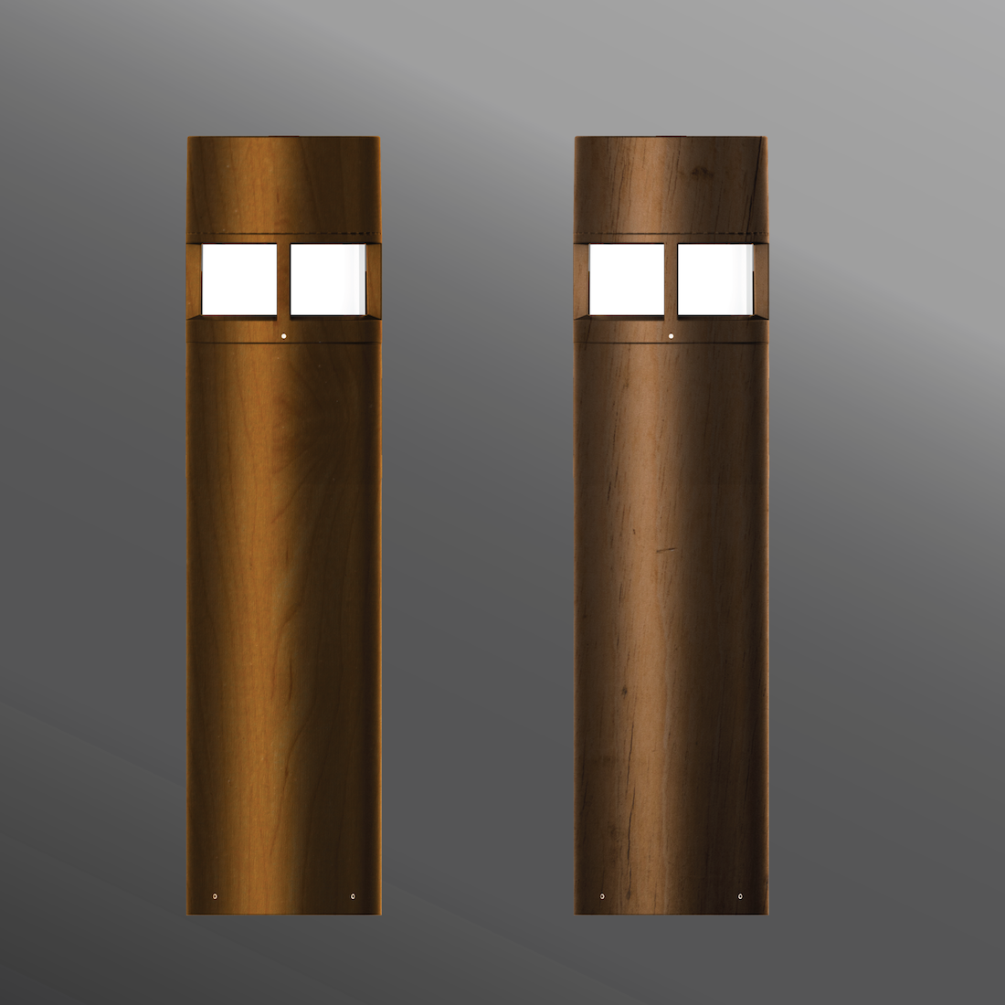 Click to view Ligman Lighting's Columbus Bollard - Woodland (model UCO-100XX).