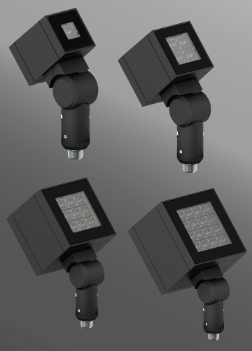 Click to view Ligman Lighting's Lador Floodlight: Threaded Knuckle Mount (model ULD-500XX).