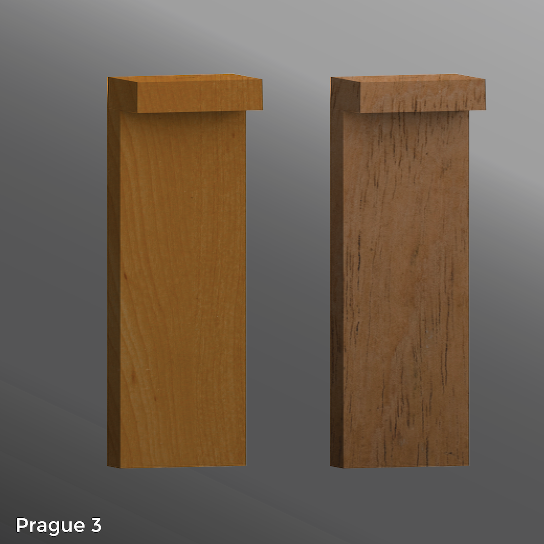 Click to view Ligman Lighting's Prague Bollard - Woodland Series (model UPRA-100XX).
